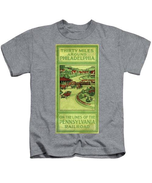 Cover Of Thirty Miles Around Philadelphia Kids T-Shirt