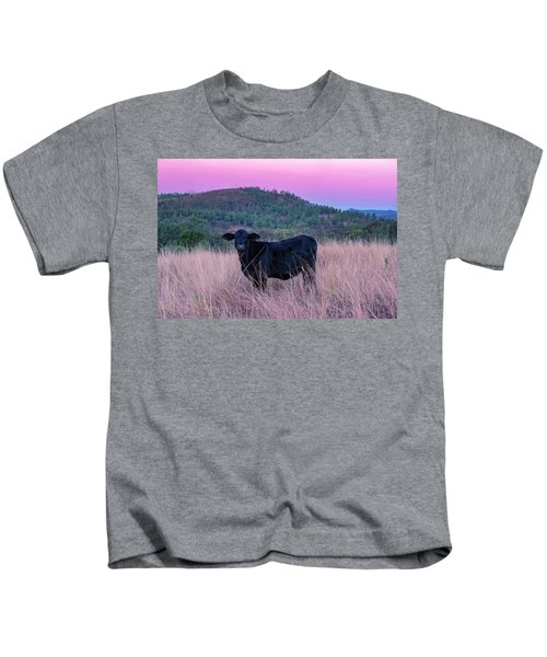 Cow Outside In The Paddock Kids T-Shirt