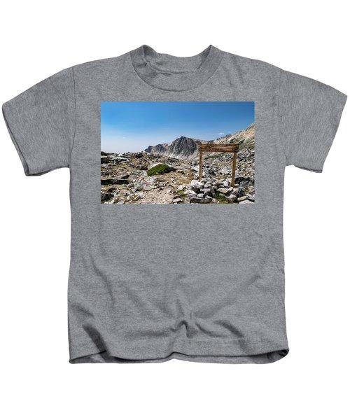 Crossroads At Medicine Bow Peak Kids T-Shirt