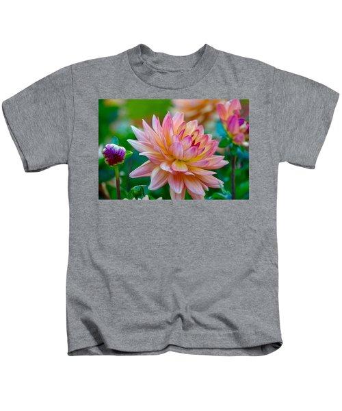 Dahlia Splendor Kids T-Shirt