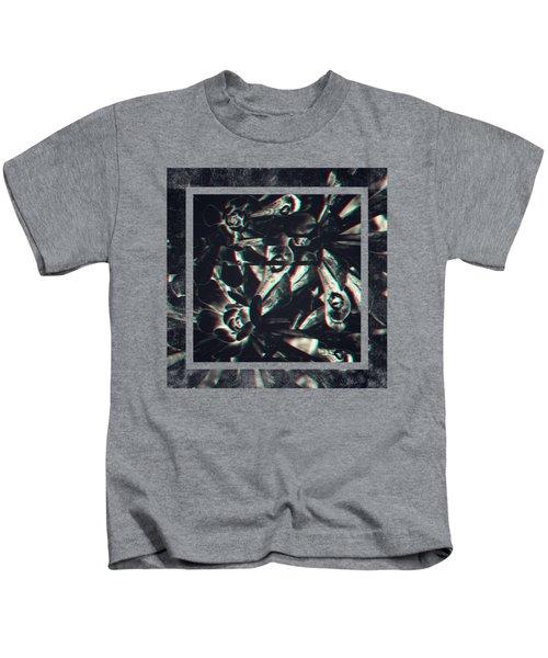 Dark Anaglyphic 3d Succulent Kids T-Shirt