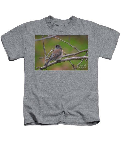 Darked-eyed Female Junco Kids T-Shirt