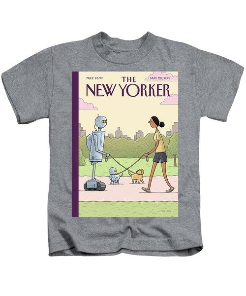 Dog Walking 2.0 Kids T-Shirt