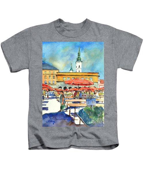 Dolce Market In Zagreb #1 Kids T-Shirt