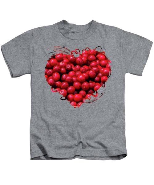 Door County Buckets Of Cherries Kids T-Shirt