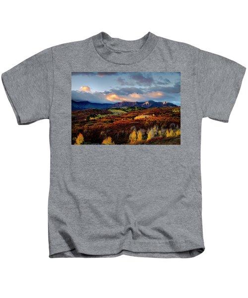 Dramatic Sunrise In The San Juan Mountains Of Colorado Kids T-Shirt