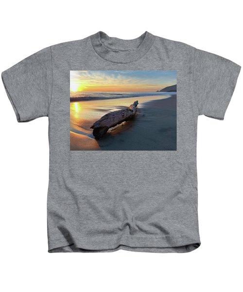 Drift Wood At Sunset II Kids T-Shirt