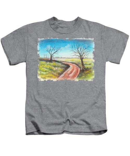 Dry Trees And A Road Kids T-Shirt