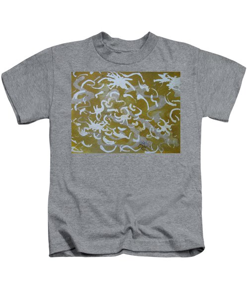 Dull Yellow With Masking Fluid Kids T-Shirt