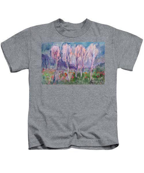 Early Morning In The Forest Kids T-Shirt