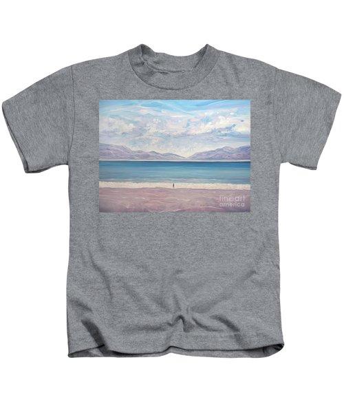 Escape To The Blue Sea - A Large Seascape Oil Painting Kids T-Shirt