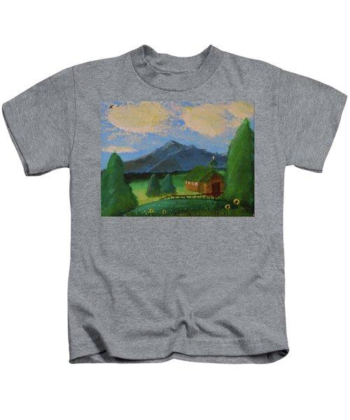 Esterbrook Chapel, Wyoming Kids T-Shirt