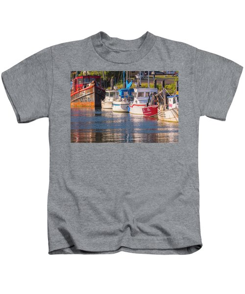 Evening At The Harbor Kids T-Shirt
