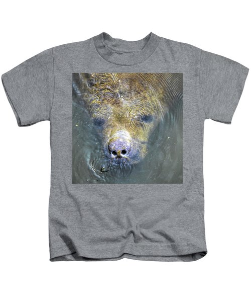 Face Of The Manatee Kids T-Shirt