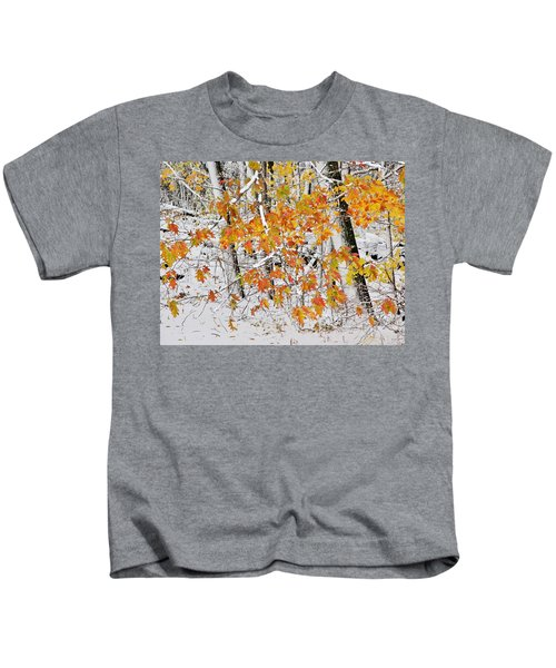 Fall And Snow Kids T-Shirt