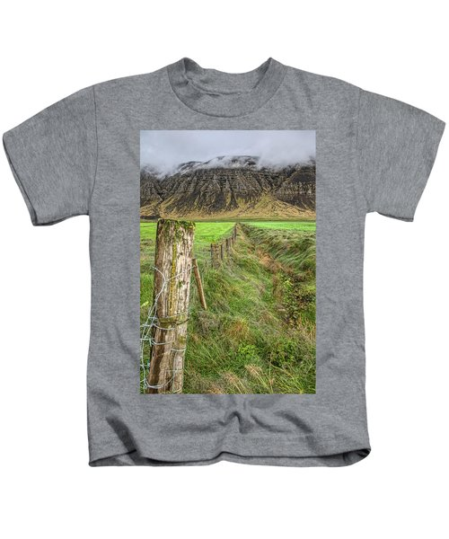 Fence Of Iceland Kids T-Shirt