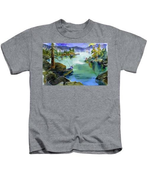 Fishing Lake Tahoe Kids T-Shirt