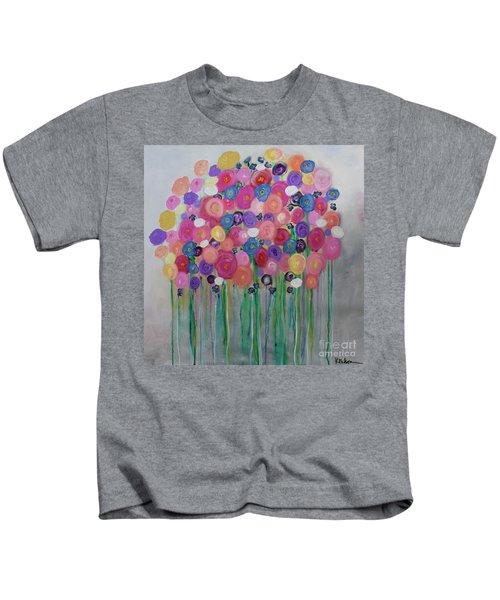 Floral Balloon Bouquet Kids T-Shirt