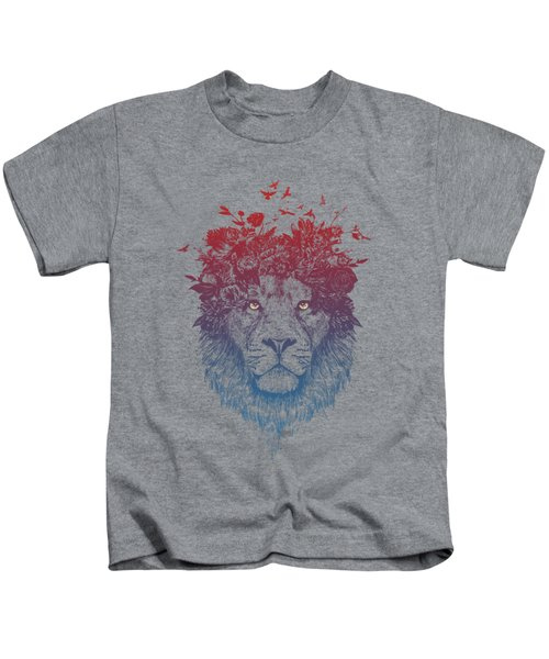 Floral Lion IIi Kids T-Shirt