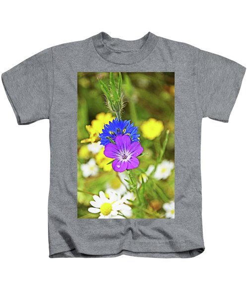Flowers In The Meadow. Kids T-Shirt