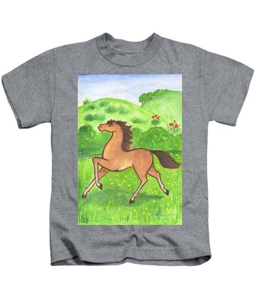 Foal In The Meadow Kids T-Shirt