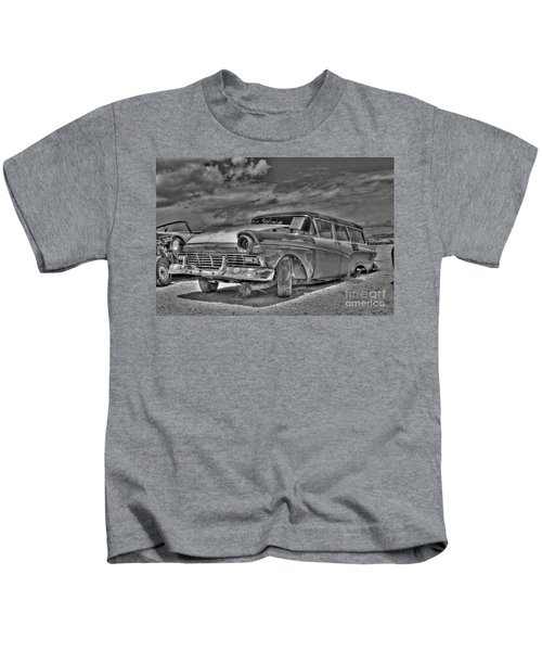 Ford Country Squire Wagon - Bw Kids T-Shirt