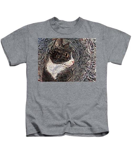 Franklyn The Tuxedo Cat Kids T-Shirt