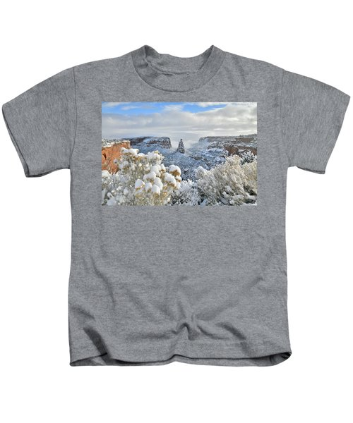 Fresh Snow At Independence Canyon Kids T-Shirt