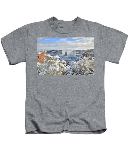 Fresh Snow At Independence Canyon Kids T-Shirt