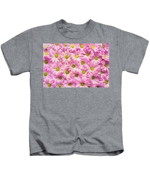 Full Of Pink Flowers Kids T-Shirt