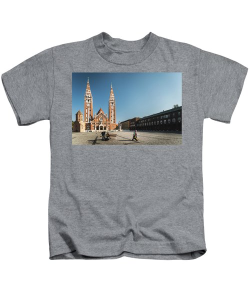 Garbage Cleaners On Dom Square In Szeged  Kids T-Shirt
