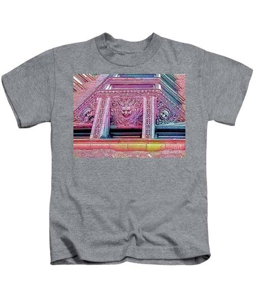 Ghoulish Gargoyles Abstract Kids T-Shirt