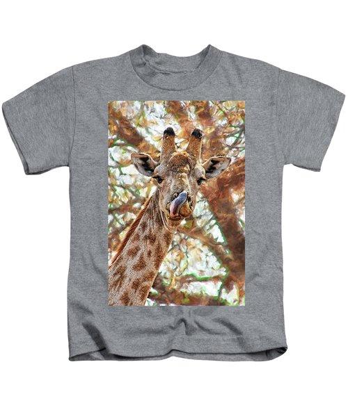 Giraffe Says Yum Kids T-Shirt
