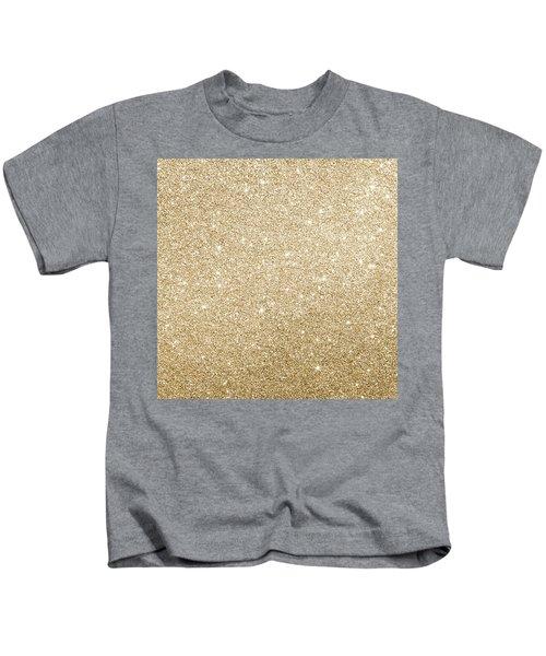 Gold Glitter Kids T-Shirt