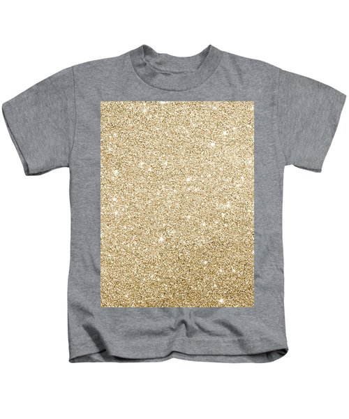 Gold Glitter Kids T-Shirt