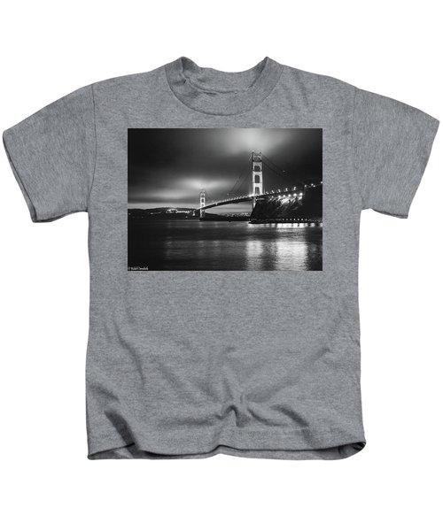 Golden Gate Bridge B/w Kids T-Shirt