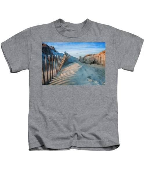 Golden Glow Dunes Kids T-Shirt