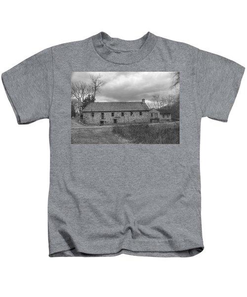 Grey Skies Over Fieldstone - Waterloo Village Kids T-Shirt