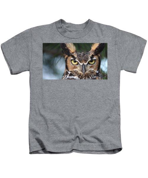 Great Horned Owl Eyes 51518 Kids T-Shirt