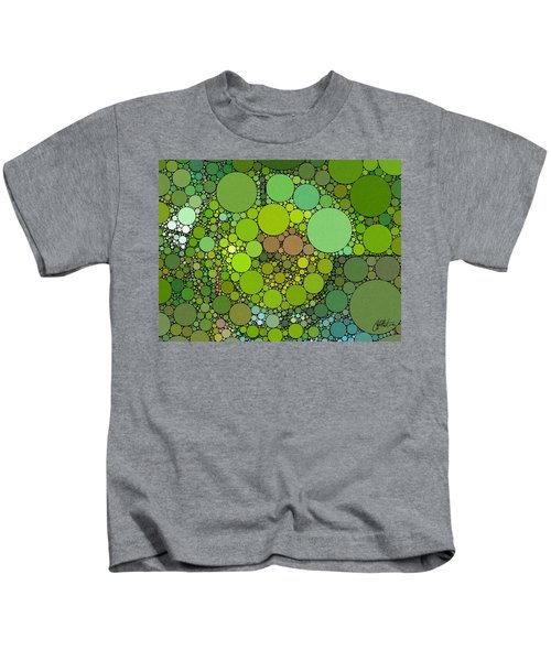 Kids T-Shirt featuring the digital art Green With Envy by Chris Montcalmo