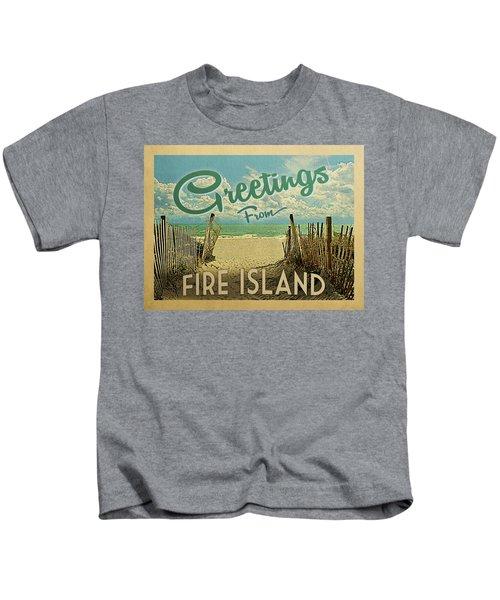 Greetings From Fire Island Beach Kids T-Shirt
