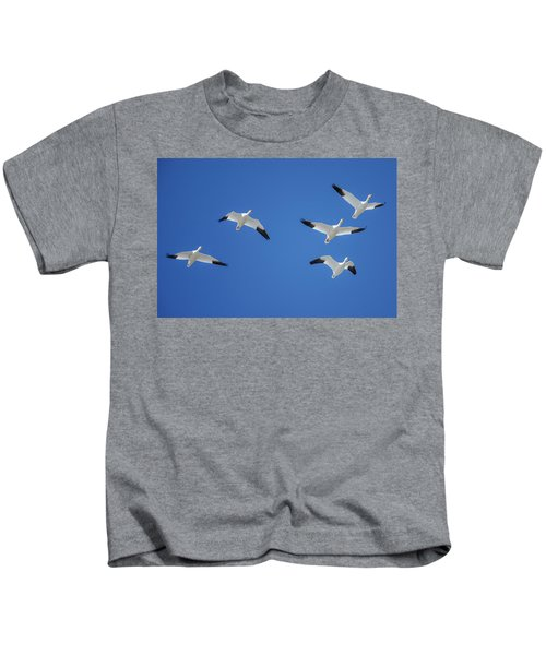 Group Of Geese Kids T-Shirt