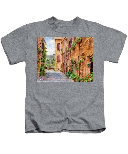 Hearts A'bloom II Kids T-Shirt