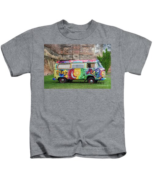 Hippie Dippie Vw Micro Bus Kids T-Shirt