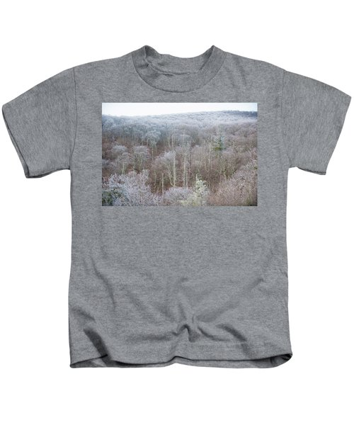 Hoarfrost In The Tree Tops Kids T-Shirt