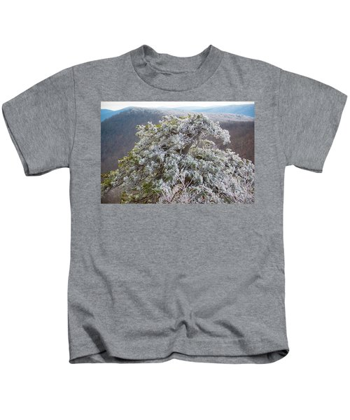 Hoarfrost On Trees Kids T-Shirt
