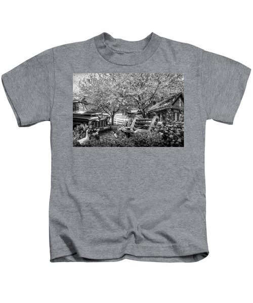 Home Is Where The Heart Is In Black And White Kids T-Shirt