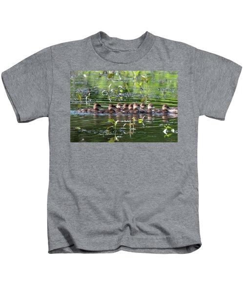 Hooded Merganser Ducklings Dwf0203 Kids T-Shirt
