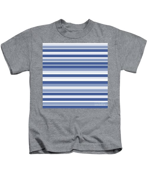 Horizontal Lines Background - Dde607 Kids T-Shirt