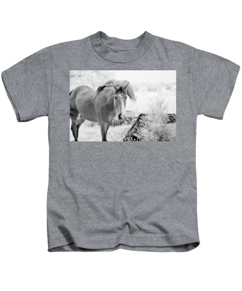 Horse In Infrared Kids T-Shirt